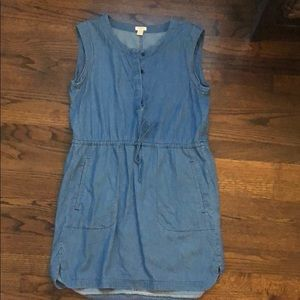 J.Crew denim sleeveless dress